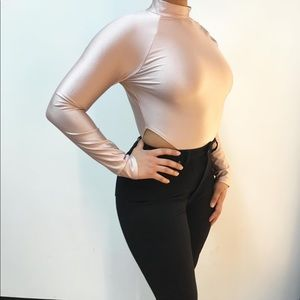 ‼️ Mauve High Hip Cut Out Bodysuit